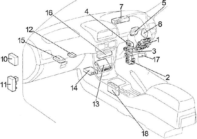 Toyota Corolla Fuse Box Diagram (1995-2002; E110 ...
