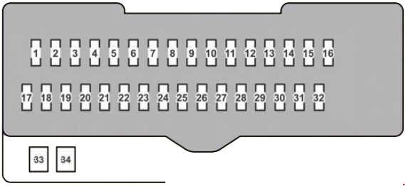 Lexus RX 350 (2007–2009) Fuse Diagram 3