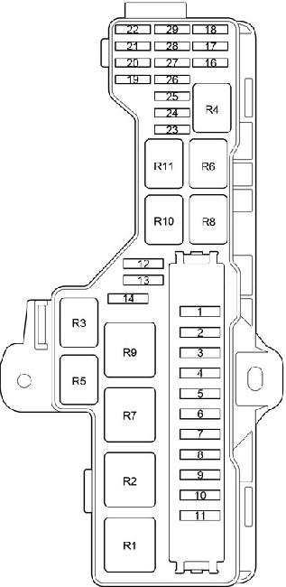 Toyota HiAce Fuse Box Diagram (2013-2018) 3