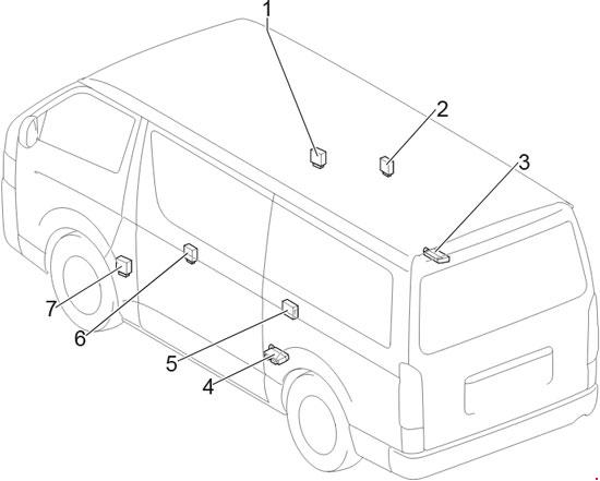 Toyota HiAce Fuse Box Diagram (2013-2018) 4